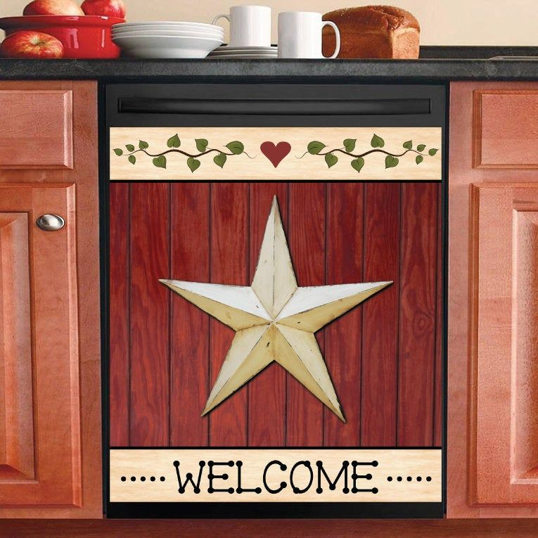 New Giant Slate Gray Barn Star Wall Decals Country Kitchen Stars Stickers Decor Country Kitchen Wall Decor Country Wall Decor Country Star Decor