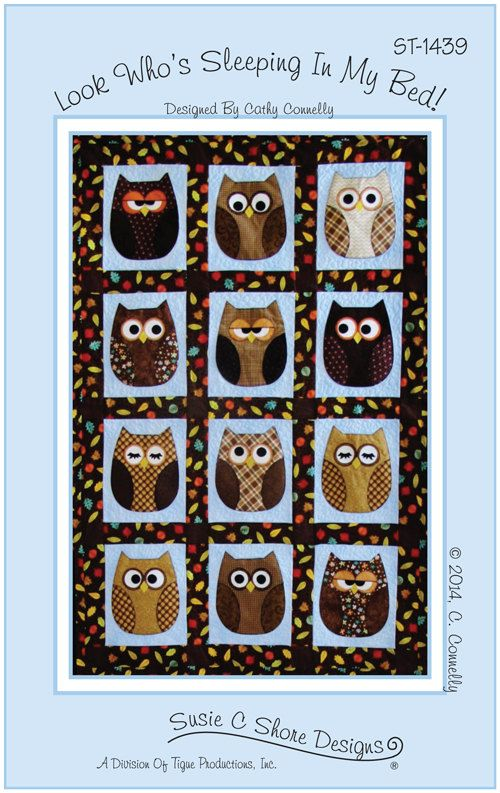 Quilt Pattern Baby Quilt Pattern Look whos sleeping in my bed owl ... : owl quilt patterns baby - Adamdwight.com