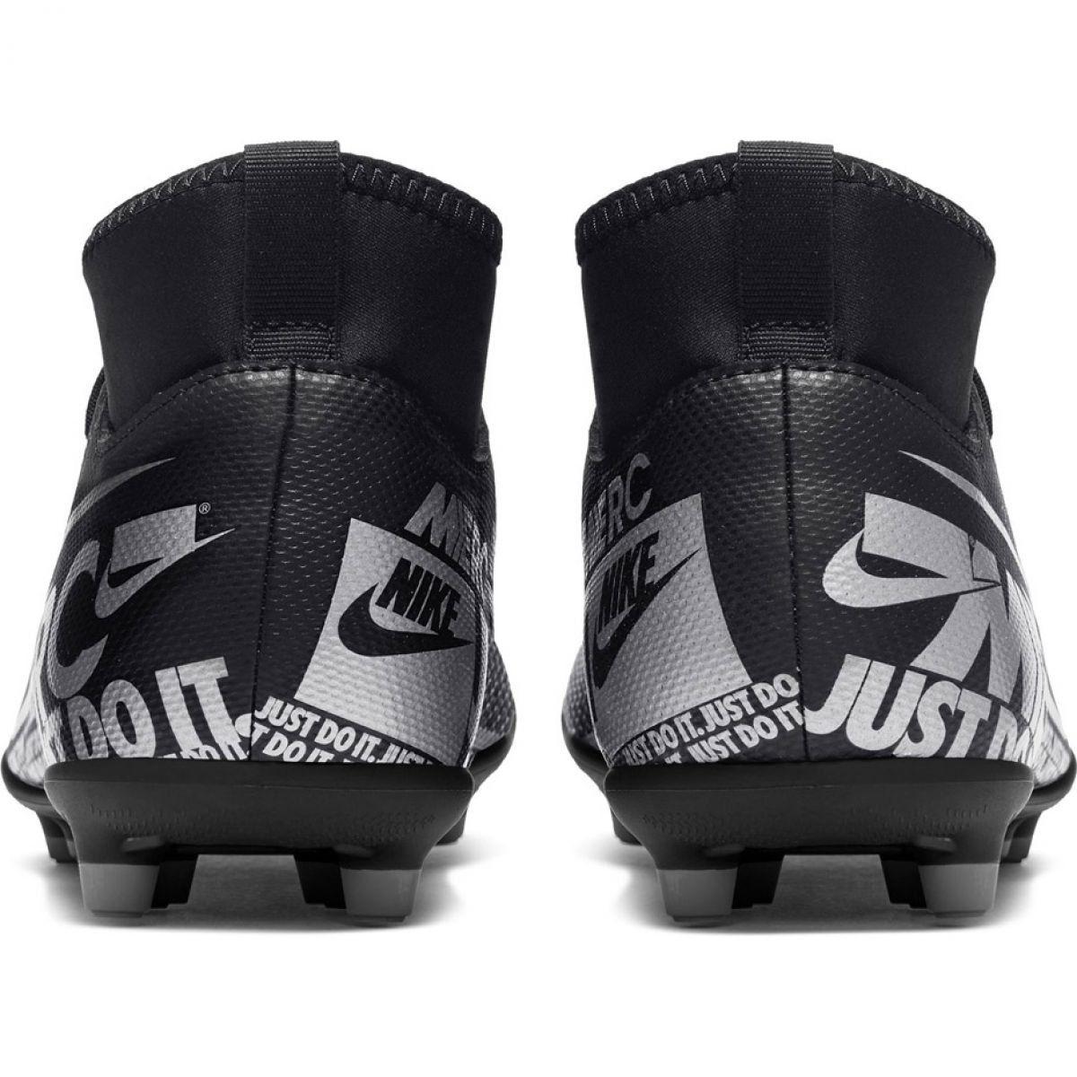 Football Shoes Nike Mercurial Superfly 7 Club Fg Mg Jr At8150 001 Black Football Shoes Nike Nike Football
