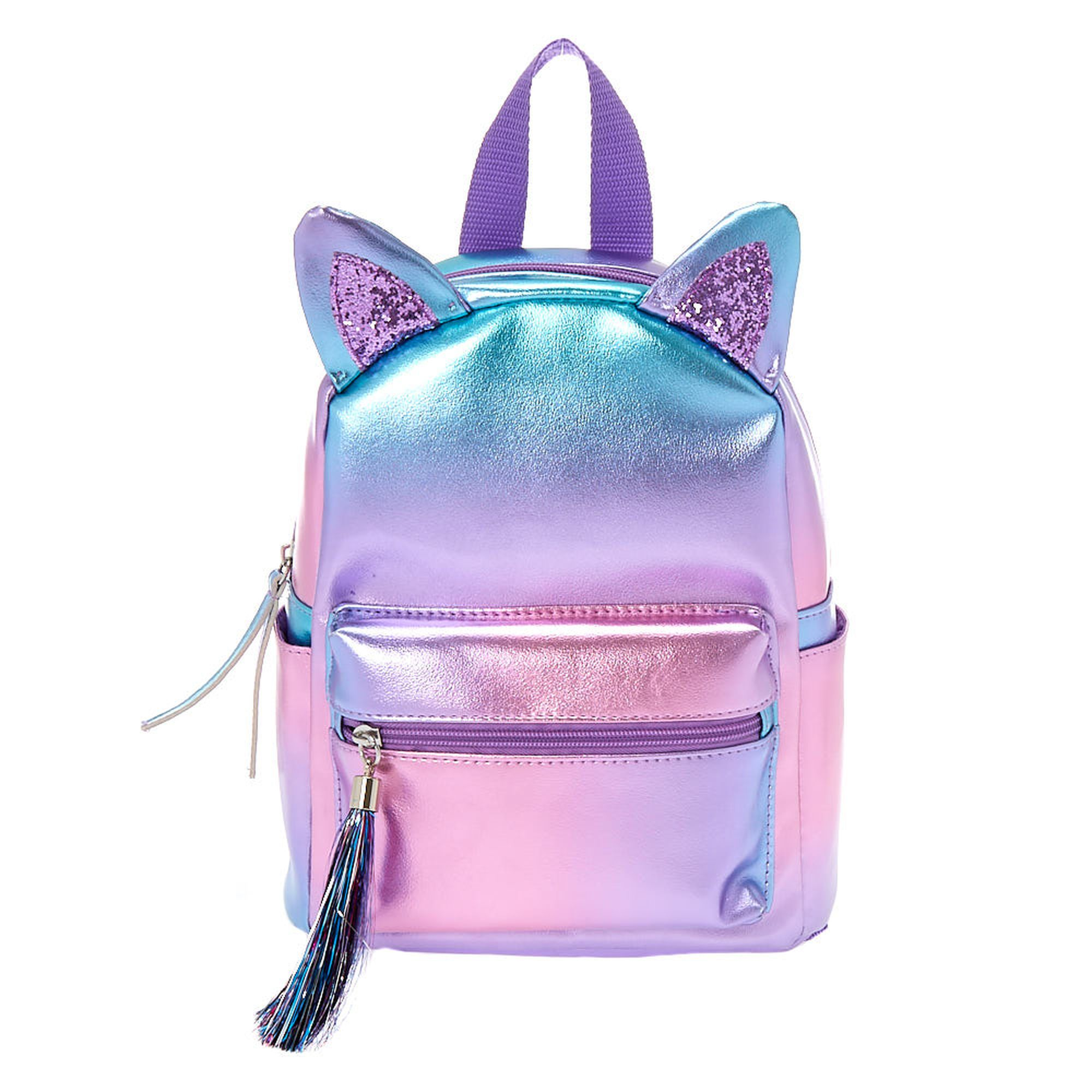 Mini Holographic Ombre Cat Ears Backpack Claire's US