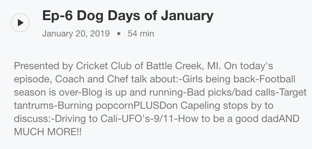 Dog Days Of January Guest Don Capeling Episode Today Episode Podcasts Episodes