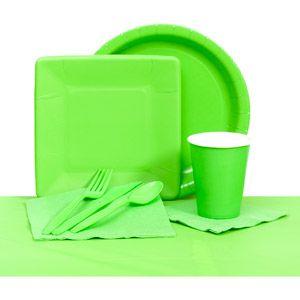 Plastic Solid Tableware Set Lime Green  sc 1 th 225 & Plastic Solid Tableware Set Lime Green   sarah sweet 16   Pinterest ...