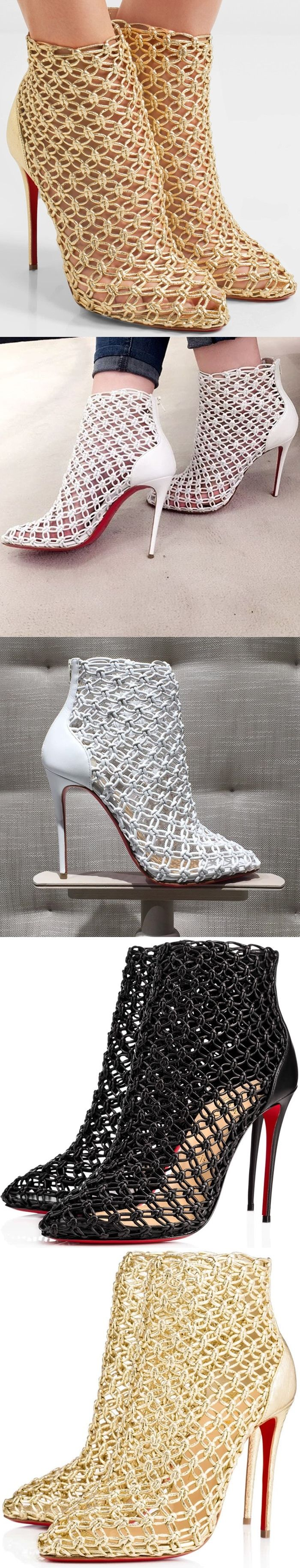 Christian Louboutin S Intricately Knotted Andaloulou Ankle Boots