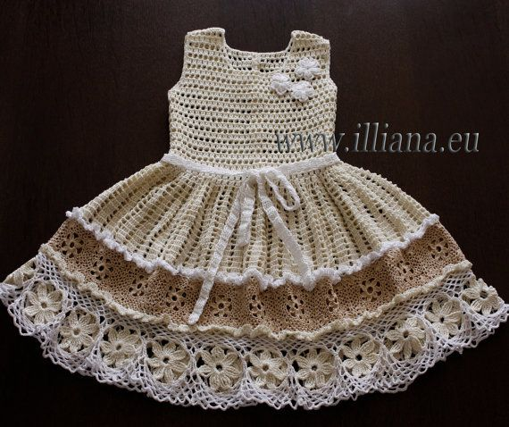 Crochet dress. PDF Pattern . No 86 by Illiana on Etsy