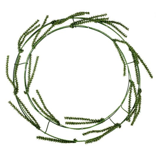 how to make a burlap wire wreath