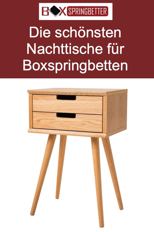 Nachttisch Fur Boxspringbett Aus Holz Nachttisch Boxspringbett