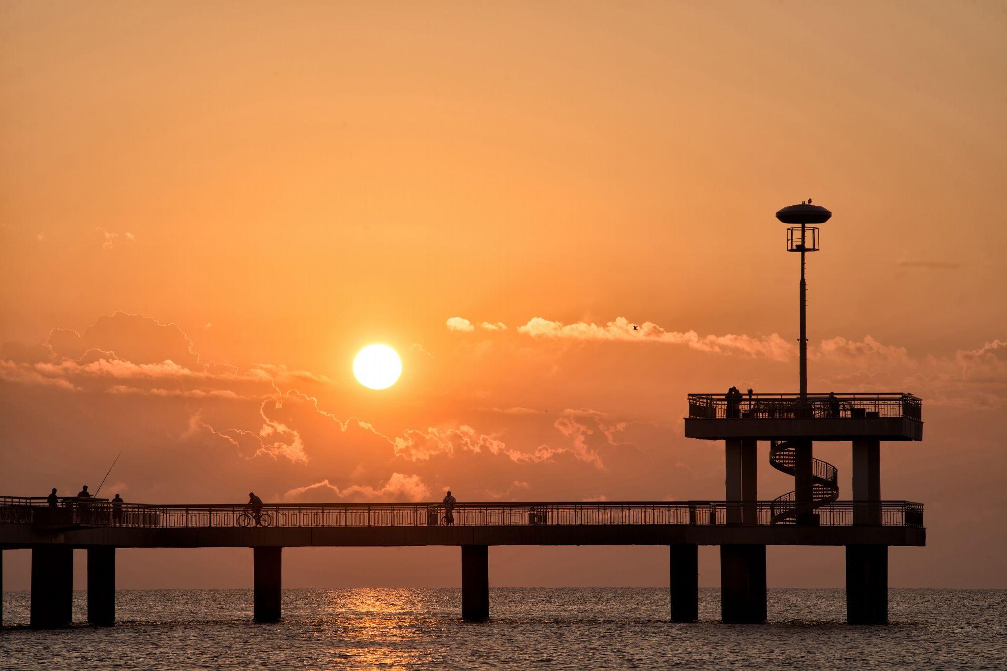 Romantic sunset moment on bridge in Burgas, Bulgaria by Radoslav Stoilov on 500px