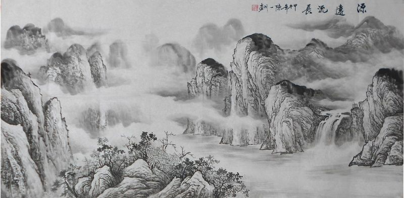 Beautiful Chinese Painting Ink Modern Art Famous Artists Brush Black And White Landscape Painting Chinese Landscape Painting Landscape Paintings Oil Painting Nature