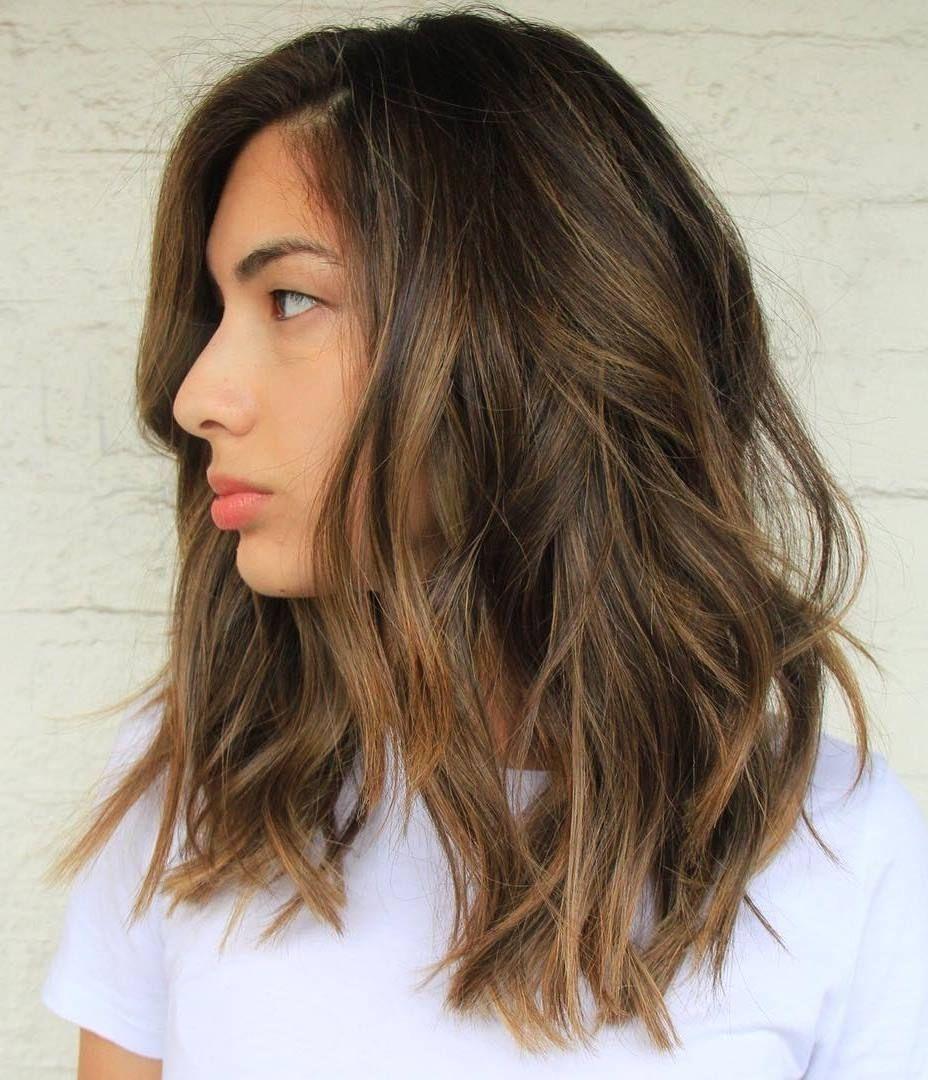 Caramel Blonde Highlights Shoulder Length Hair 60 Balayage