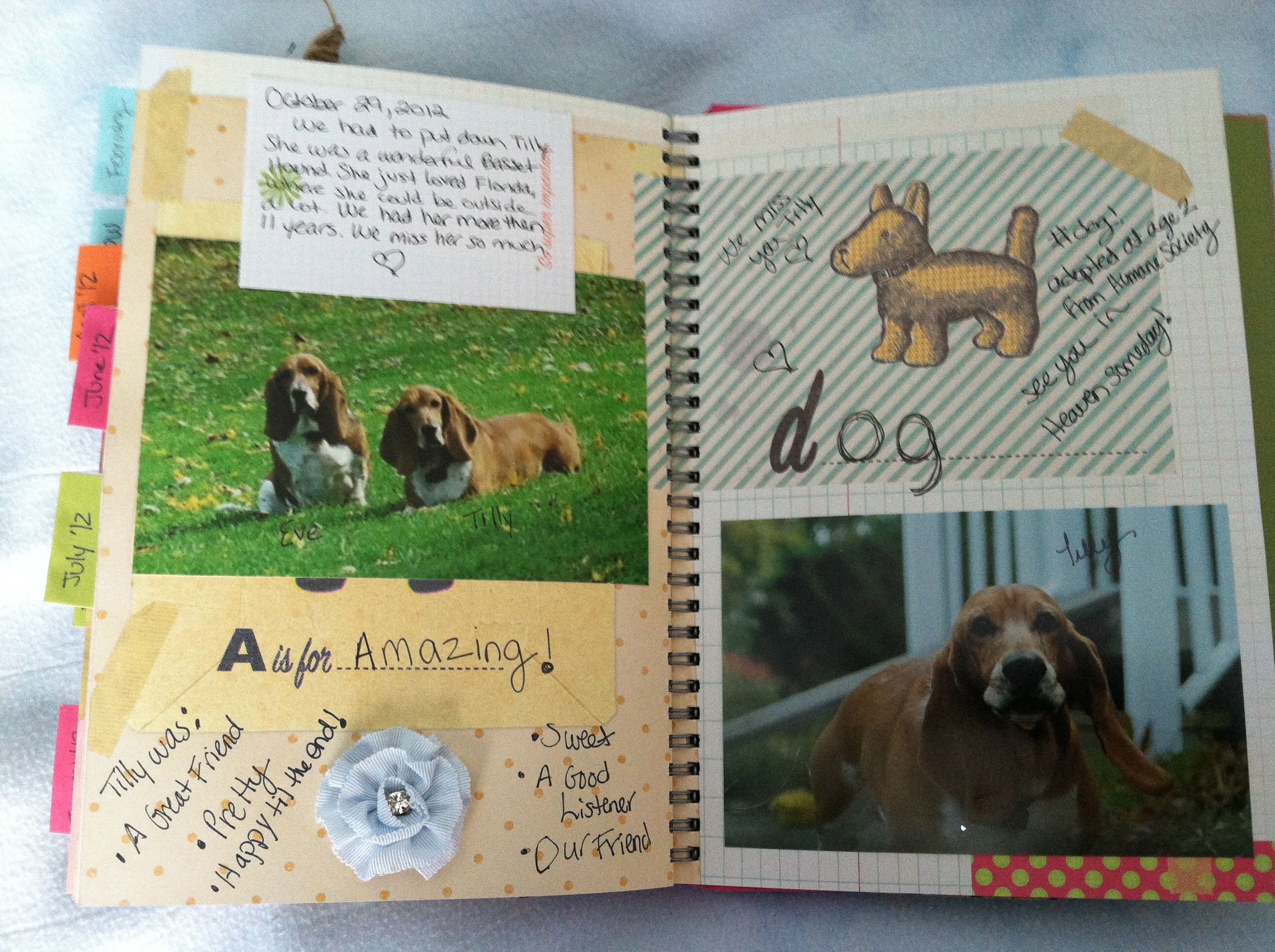 page for tilly in my smashbook *by trish muskus*