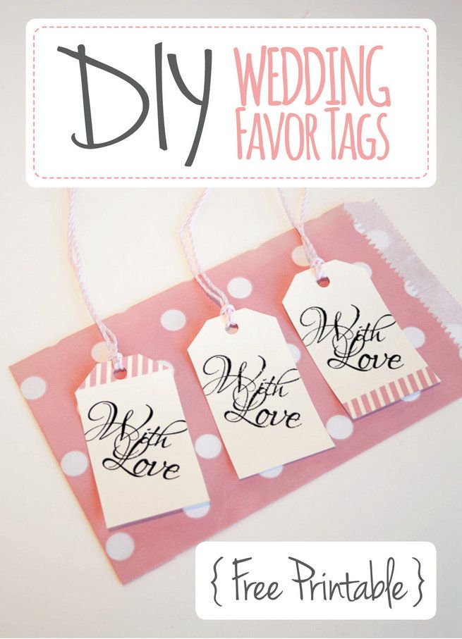 picture about Free Printable Wedding Favor Tags identify Wedding ceremony Desire Tags: With Get pleasure from Bags Tag Printable