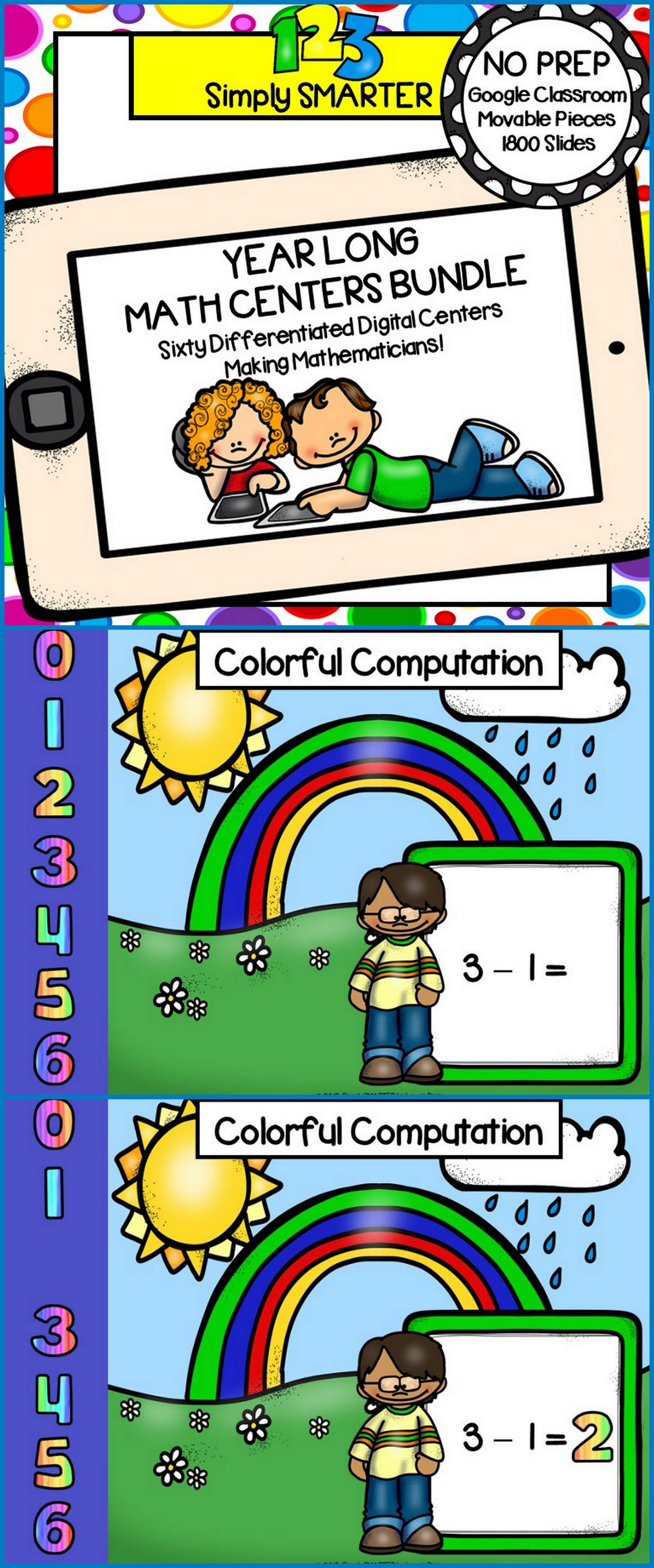 Kindergarten Digital Math Centers For Classroom