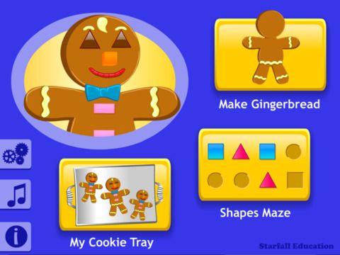 Starfall Gingerbread by Starfall Education Gingerbread