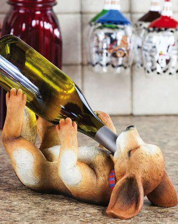 Puppy Wine Bottle Holder