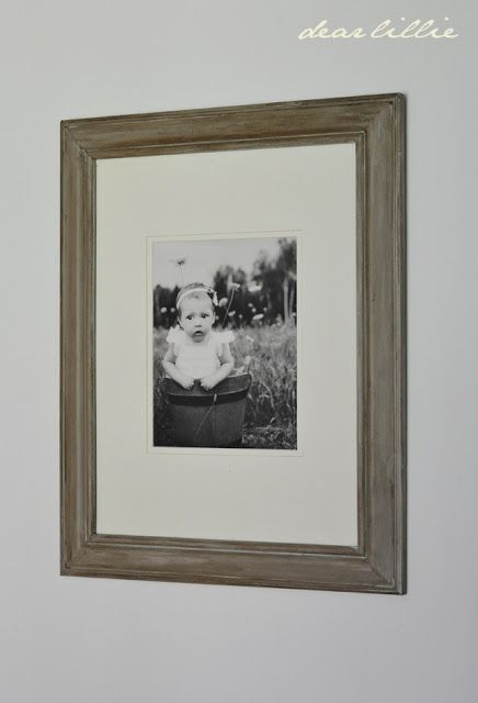 make over a black picture frame -- first: paint frame (Paris Grey ...