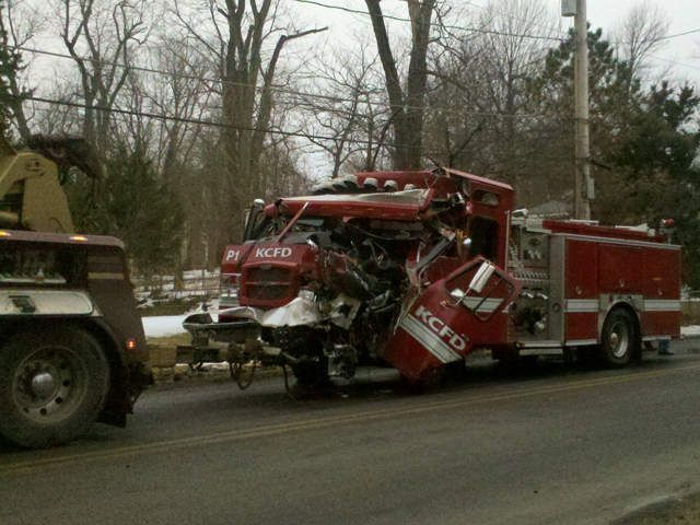 Kcmo Fire Truck Involved In Accident On Red Bridge Nbcactionnews