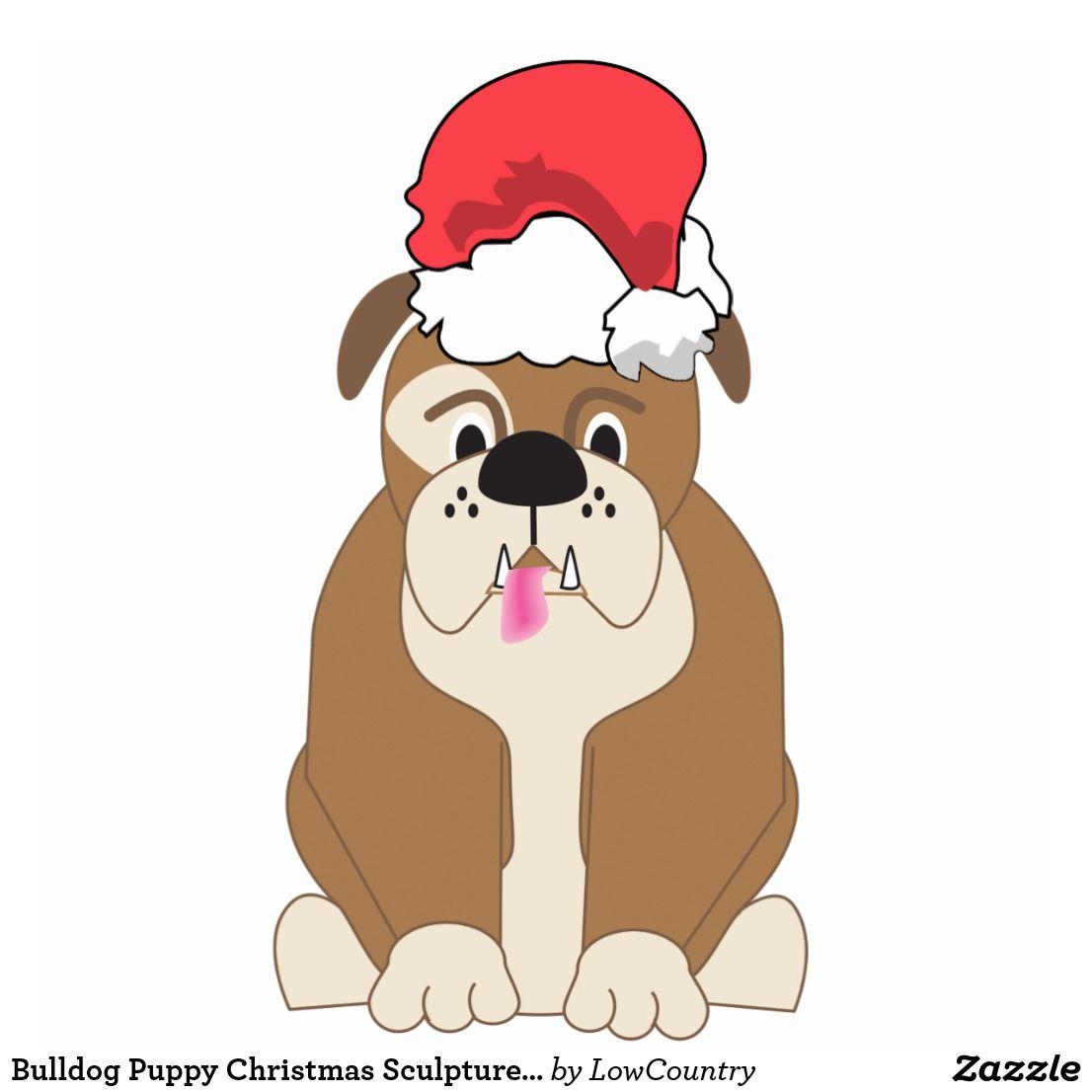 Bulldog Puppy Christmas Pet Sculpture Ornament Dog Crafts Dog Photos Animal Advocacy