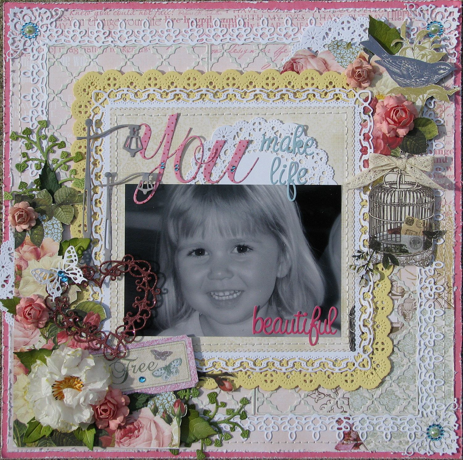 You Make Life Beautiful Scrapbook Websters Pages Pinterest