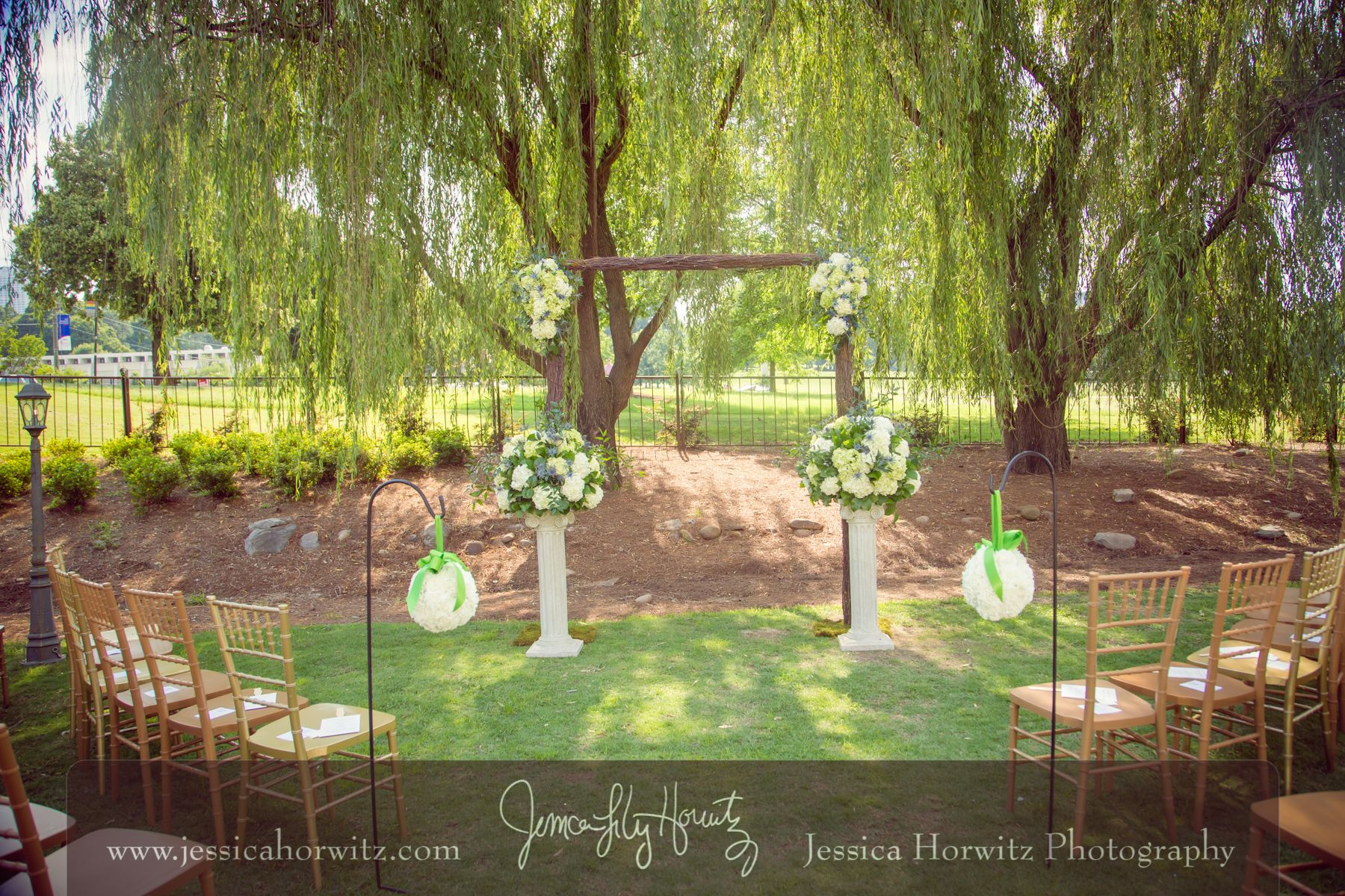 Piedmont Garden Tent Ceremony at Park Tavern Photo by