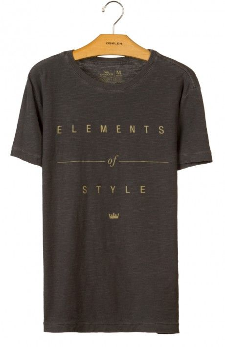 Osklen - T-SHIRT ROUGH ELEMENTS OF STYLE - t-shirts - men