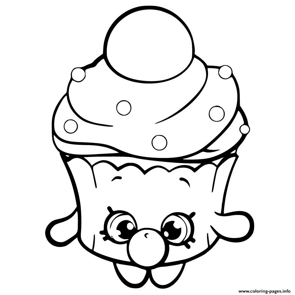 Print Bubble Cupcake Shopkins Season 6 Coloring Pages