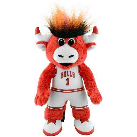 Chicago Bulls Benny the Bull Mascot 10 inch Plush Figure, Multicolor