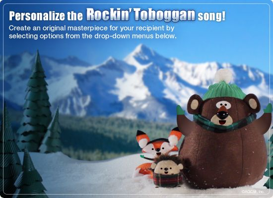 Rockin Toboggan Video Ecard Personalized Lyrics