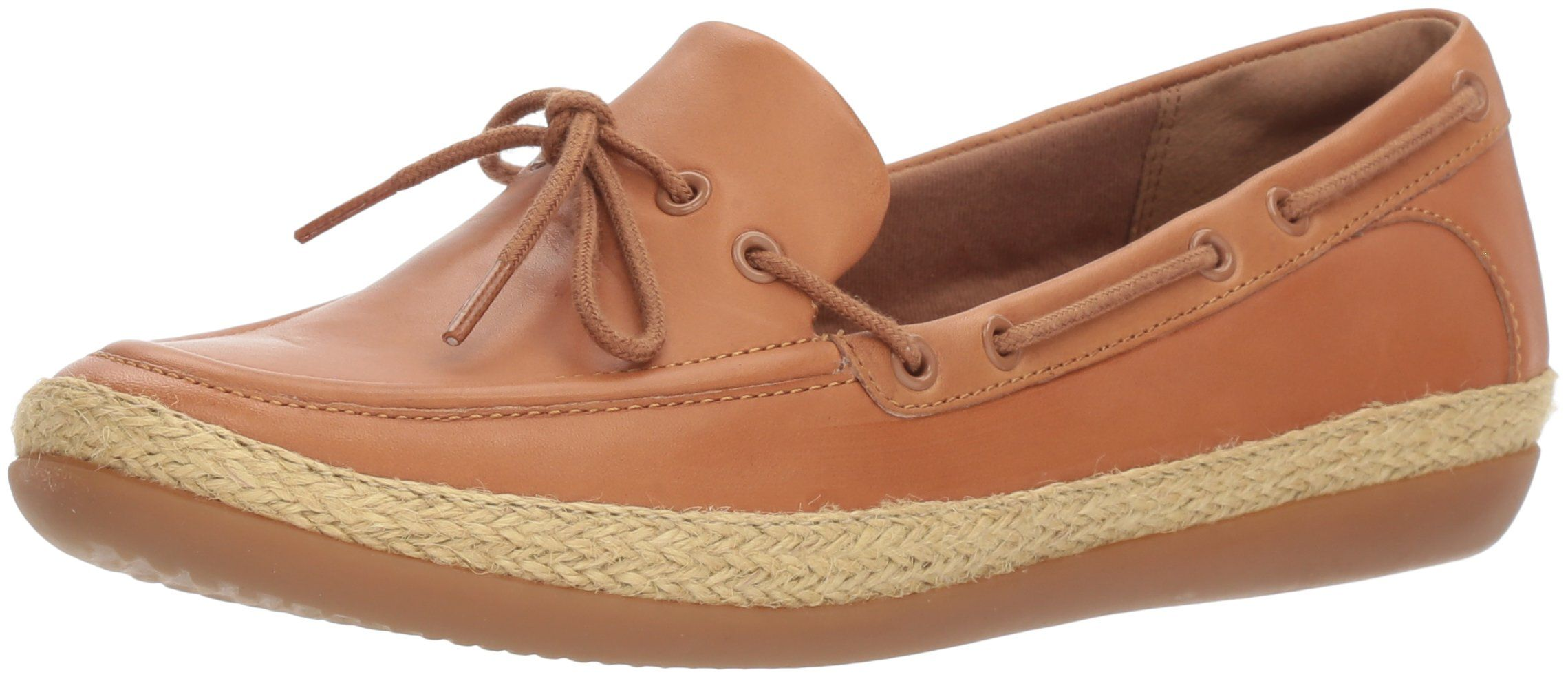 8c6d87c8127 CLARKS Womens Danelly Bodie Boat Shoe Light Tan Leather 8 Wide US   Read  more reviews