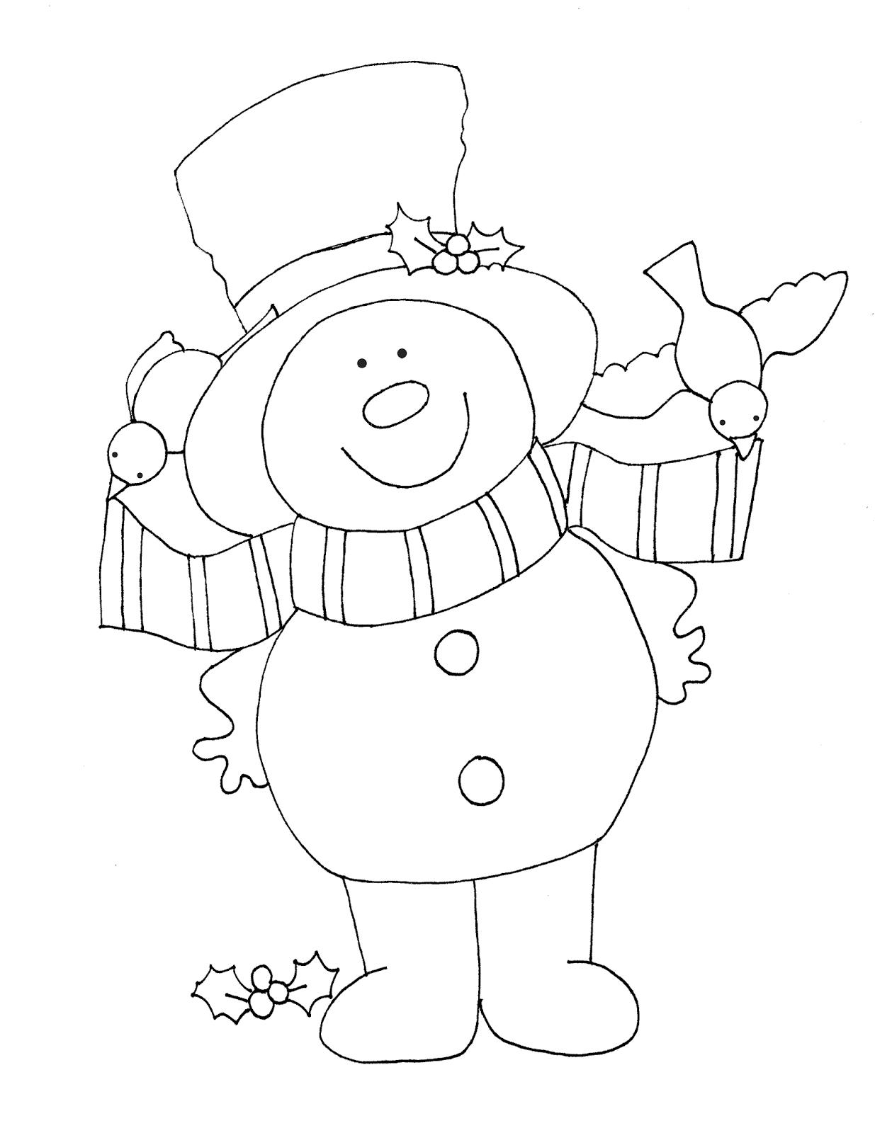 Free Dearie Dolls Digi Stamps Snowman And Bir S