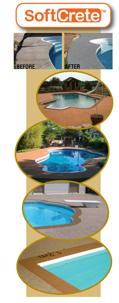Ontario rubber pool deck resurfacing restoration and repair backyard pinterest pool decks Diy resurfacing concrete swimming pool deck ideas