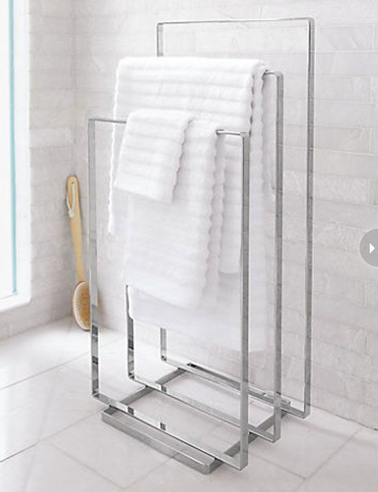 hotel bathroom towel rack Google Search bathrooms Pinterest