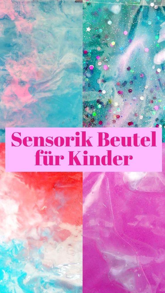 6 verschiedene Sensorik Beutel - einfache Spielidee für Kinder - kleinliebchen