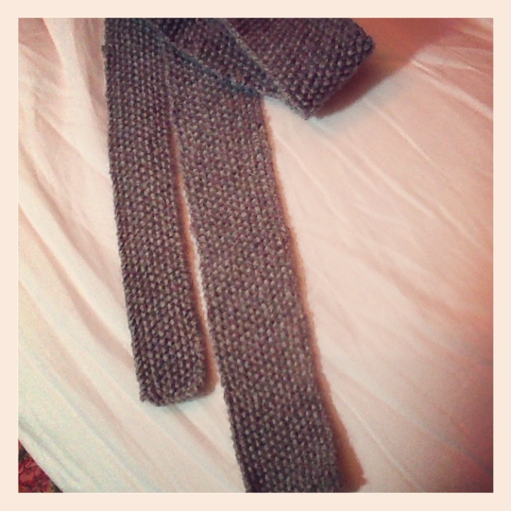 Carol Knits and Crochets: Seed Stitch Skinny Tie