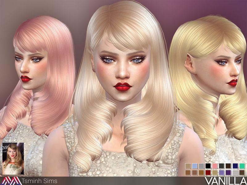 The Sims Resource Vanilla Hair 28 By Tsminhsims Sims 4 Hairs Http Sims4hairs Com The Sims Resource Vanilla Hair 2 Sims Hair Womens Hairstyles Sims 4 Cc