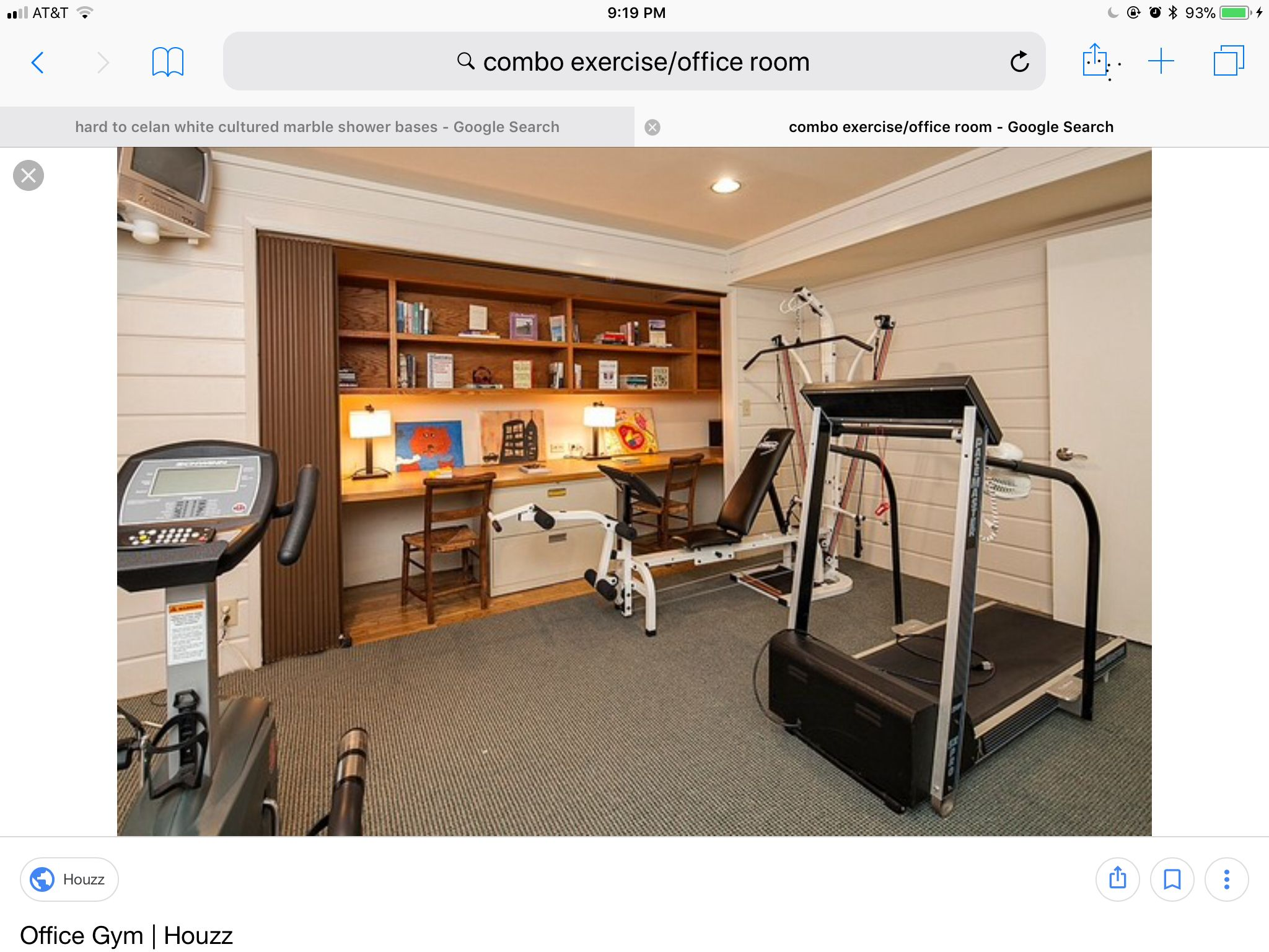 Pin By Dotty Mitchell On Exercise Office Combo Gym Room At Home Home Gym Room