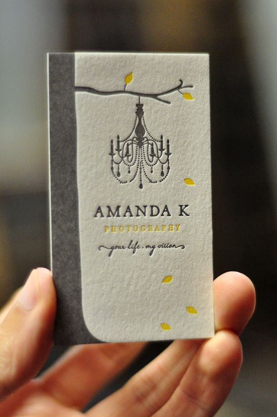 letterpress business card {by Mama's Sauce}