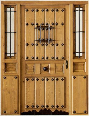 Puerta 346 450 puertas pinterest puerta for Puertas principales de madera rusticas