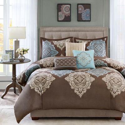 Madison Park Monroe 6 Piece Duvet Cover Set Bedding Sets Pillow Decorative Bedroom Comforter Sets