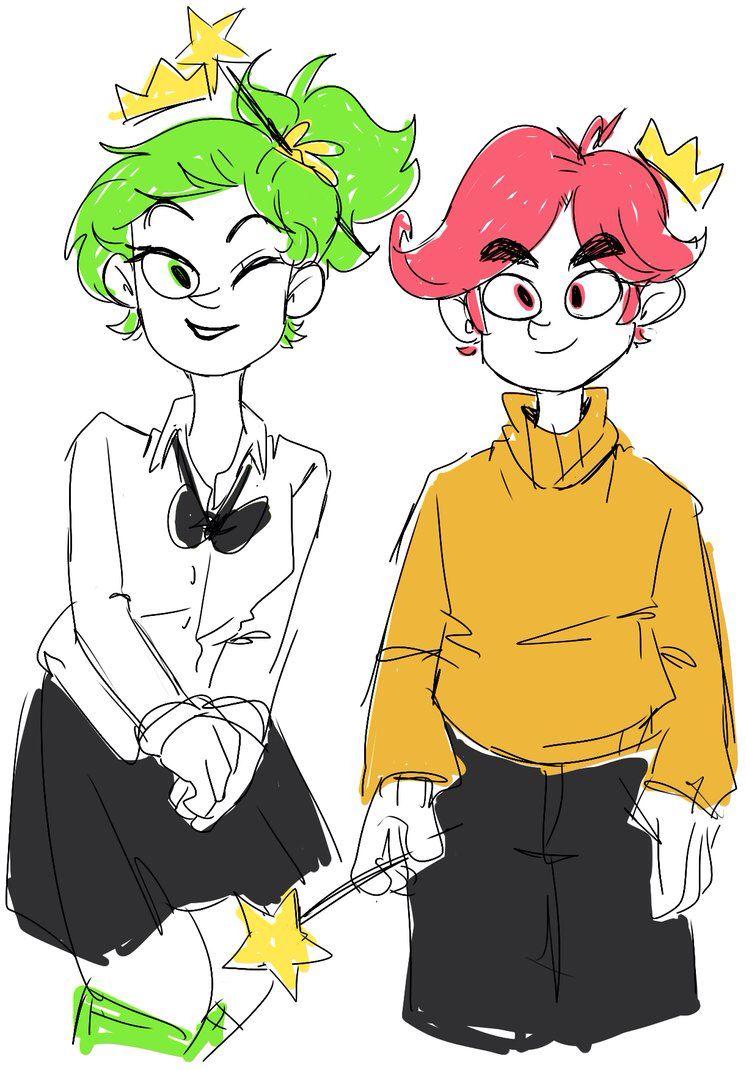 genderbent cosmo and wanda fairly odd parents pinterest cosmos