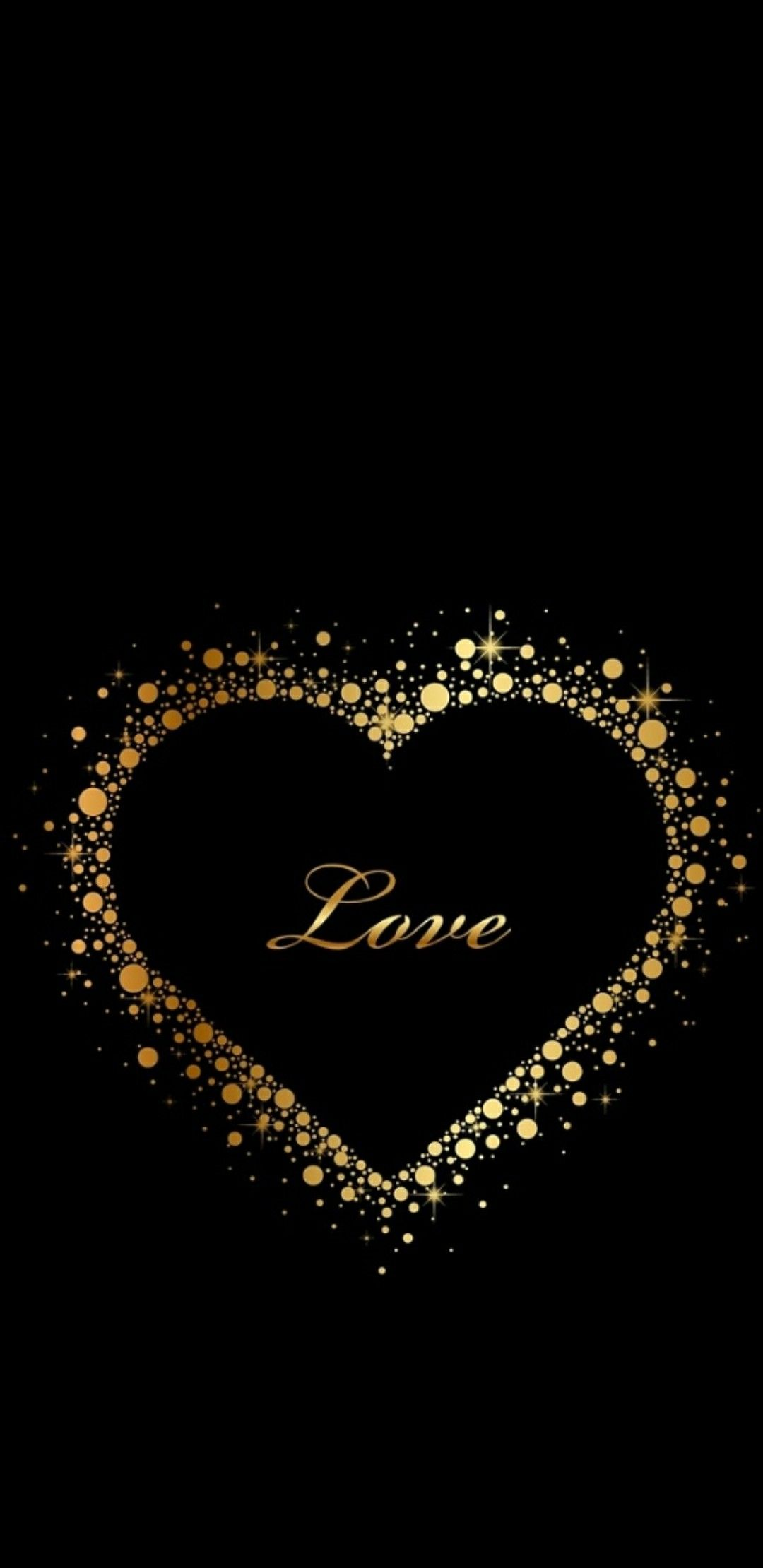 Black And Gold Gold Quotes Gold Wallpaper Pattern Heart Wallpaper