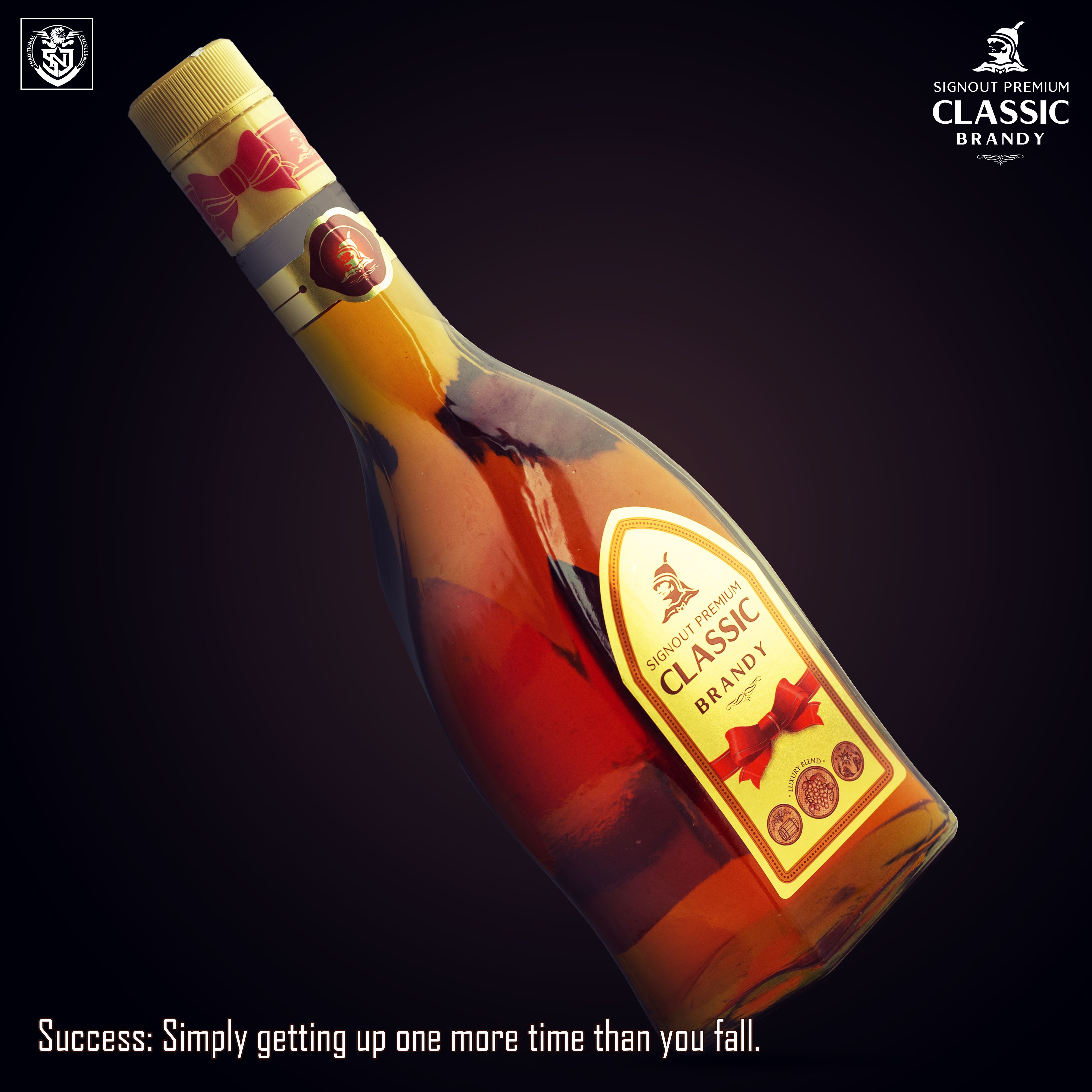 Success Simply Getting Up One More Time Than You Fall Signoutclassic Premiumbrandy Snj Signoutclassicbrandy Brandy Rose Wine Bottle Brandy Wine Bottle