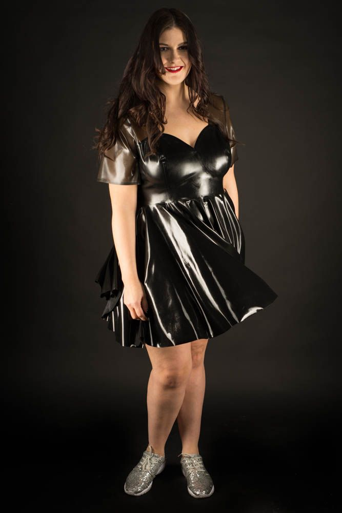 Plus size latex skater dress | Curvy Leather, Latex & PVC 1 | Latex ...