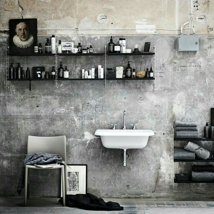 Masculine Master Baths: Masculine Bathroom Via @lottaagaton On Instagram