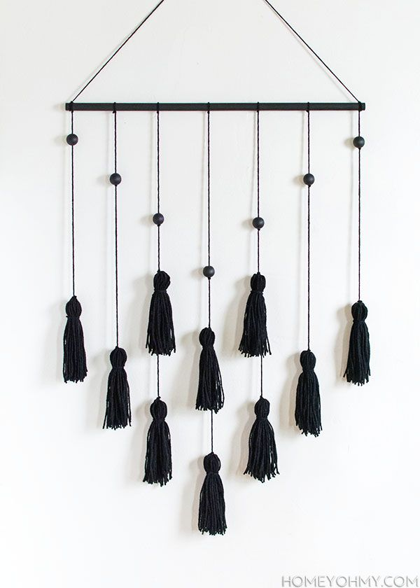 DIY Modern Tassel Wall Hanging #diywalldecor
