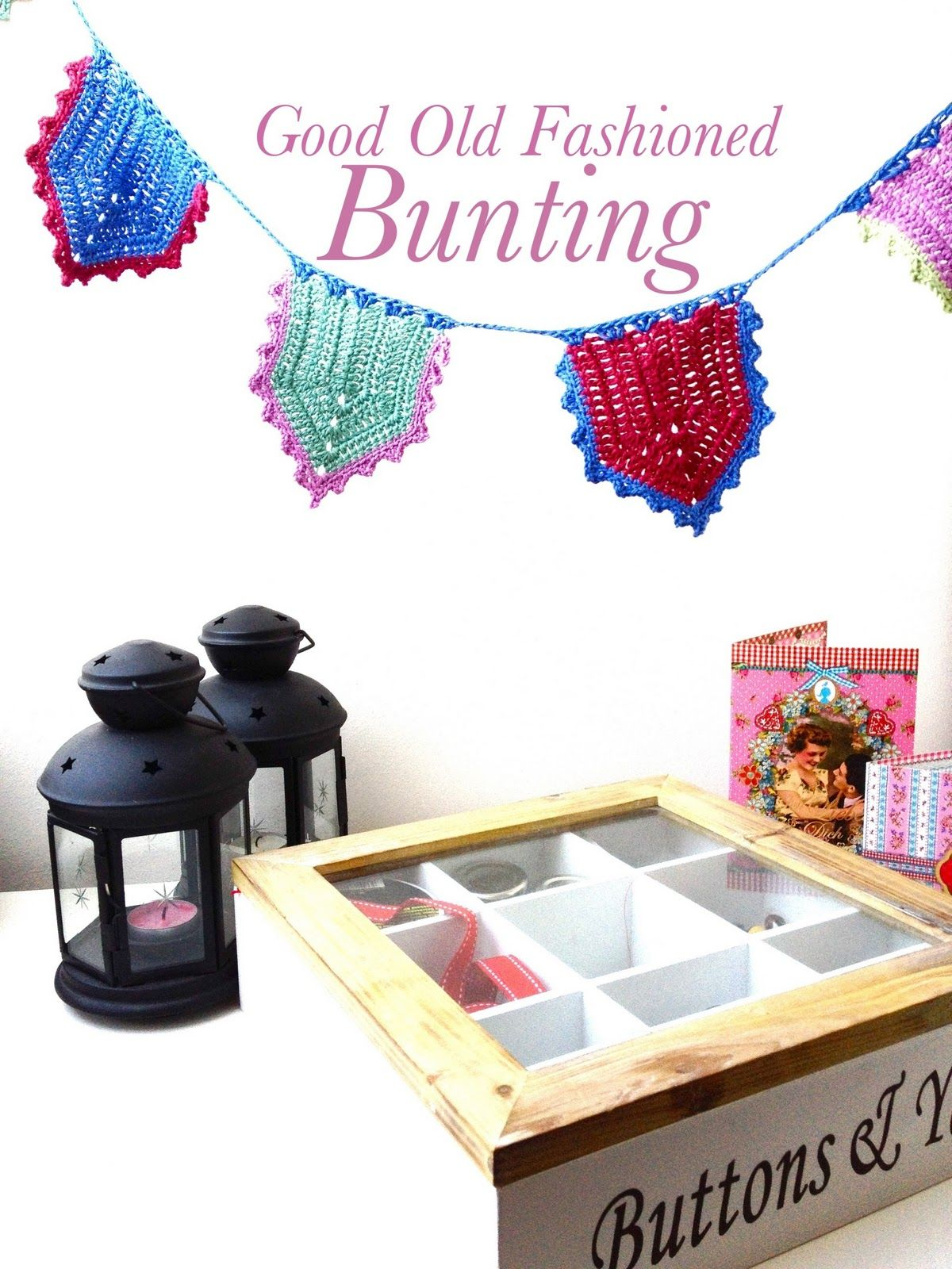 Good Old Fashioned Bunting Tutorial | Crochet <3 | Pinterest