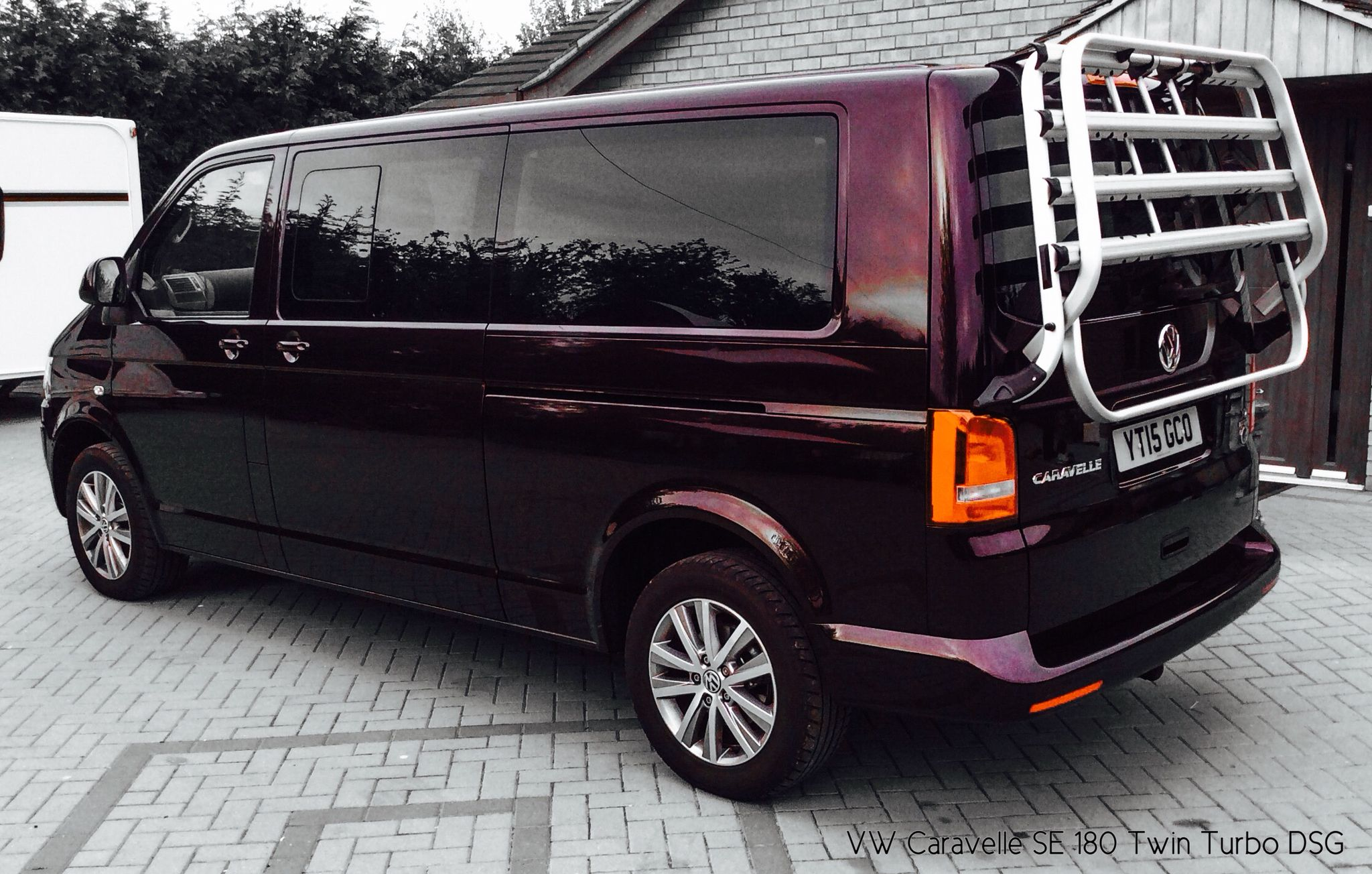 my 2015 vw caravelle longwheelbase 180 7 speed dsg in blackberry with california bike rack. Black Bedroom Furniture Sets. Home Design Ideas