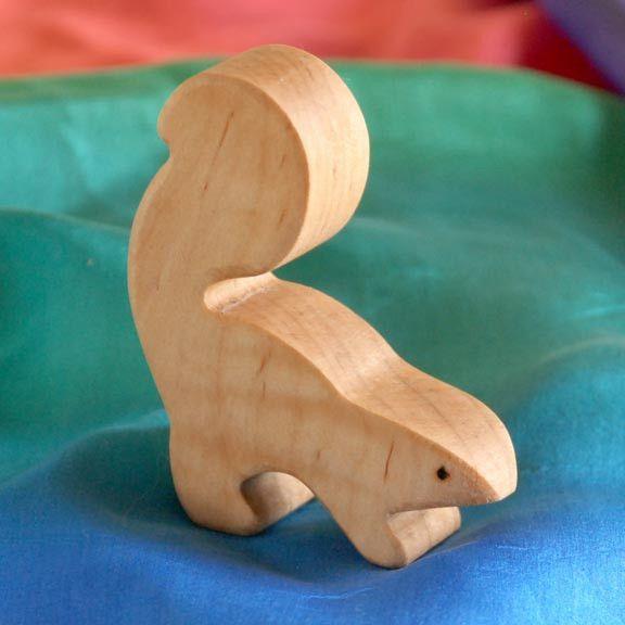 Wooden Skunk Handmade Toy Animal Waldorf Inspired