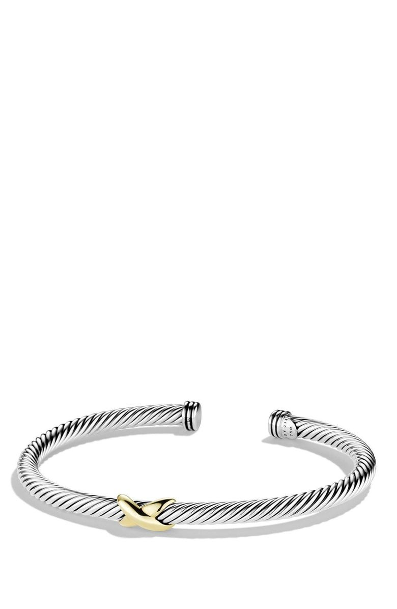 Free Shipping And Returns On David Yurman X Cable Bracelet At Nordstrom Sterling Silver 18 Karat Yellow Gold 4mm Wide Flexible Design