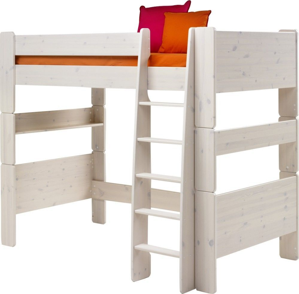 Pine loft bed with desk  Steens Whitewash Highsleeper bed Quality childrens high sleeper bed