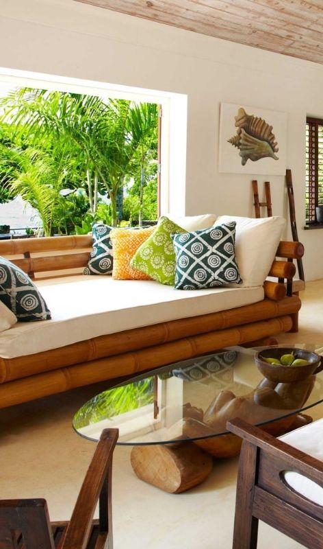 The Ian Fleming Villa has five bedrooms in all, plus a private pool - decoracion con bambu